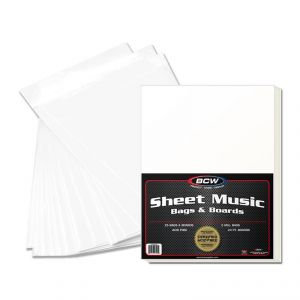 PREMADE SHEET MUSIC BAG AND BOARD