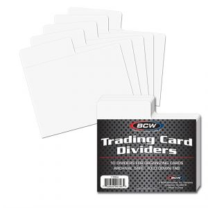 Trading Card Dividers - Horizontal