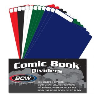 MIXED CASE OF COLORED COMIC DIVIDERS