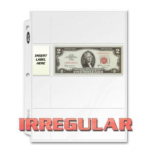 IRREGULAR PRO 4-POCKET CURRENCY PAGE (100 CT. BOX)