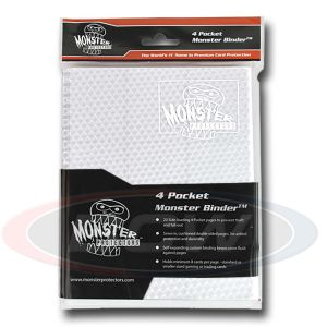 4-POCKET - HOLOFOIL WHITE WITH WHITE PAGES