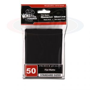 FLAT MATTE SLEEVES - BLACK - LARGE - NO LOGO
