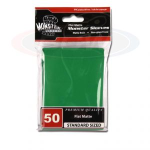 FLAT MATTE SLEEVES - GREEN - LARGE - NO LOGO