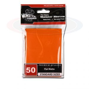 FLAT MATTE SLEEVES - ORANGE - LARGE - NO LOGO