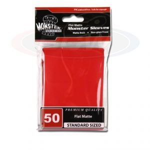 FLAT MATTE SLEEVES - RED - LARGE - NO LOGO