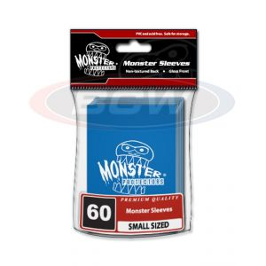 GLOSSY SLEEVES - BLUE - SMALL - MONSTER LOGO