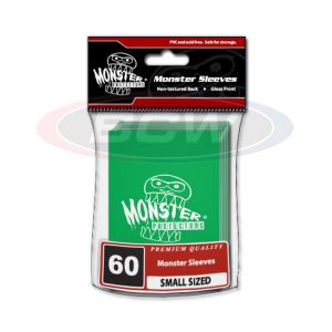 GLOSSY SLEEVES - GREEN - SMALL - MONSTER LOGO
