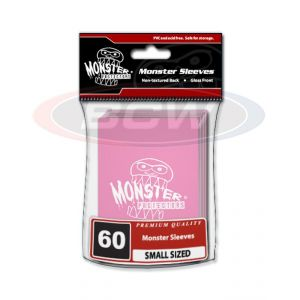 GLOSSY SLEEVES - PINK - SMALL - MONSTER LOGO