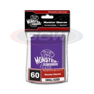 GLOSSY SLEEVES - PURPLE - SMALL - MONSTER LOGO
