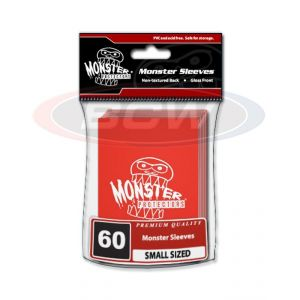 GLOSSY SLEEVES - RED - SMALL - MONSTER LOGO