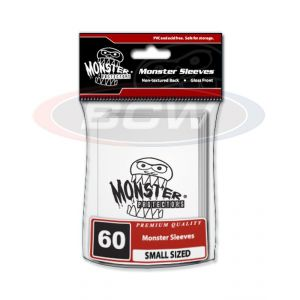 GLOSSY SLEEVES - WHITE - SMALL - MONSTER LOGO