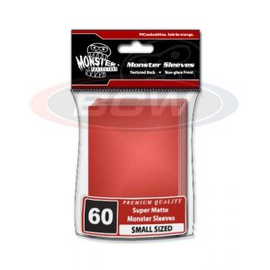 MATTE SLEEVES - RED - SMALL - NO LOGO