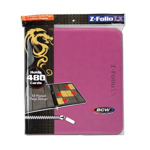 Z-FOLIO 12-POCKET LX ALBUM - PINK