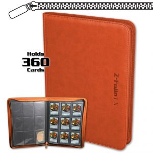 Classic Z-Folio 9-Pocket LX Album - Orange **LIMITED STOCK**