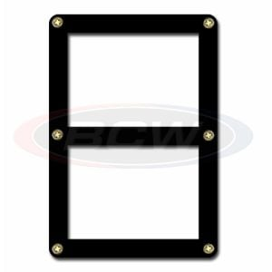 2 CARD SCREWDOWN HOLDER - BLACK BORDER