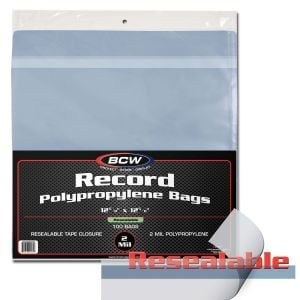 RESEALABLE 33 RPM RECORD BAGS - SNUG