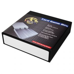 CARD GAME BOX - 3 ROW -  BLACK WITH WHITE