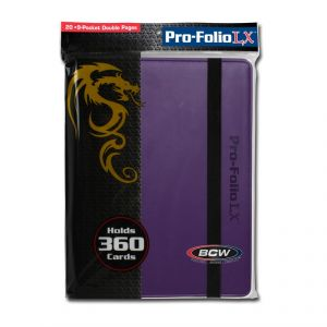 PRO-FOLIO 9-POCKET LX ALBUM - PURPLE