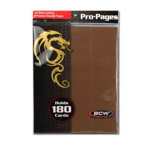 SIDE LOADING 18-POCKET PRO PAGES - BROWN