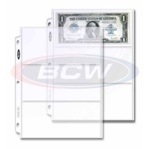 PRO 3-POCKET CURRENCY PAGE (20 CT. PACK)