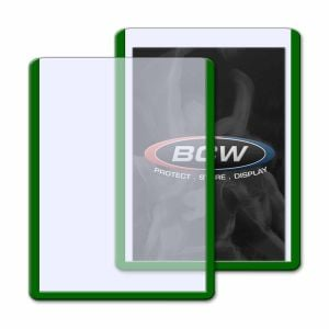 3x4 TOPLOAD CARD HOLDER - GREEN BORDER
