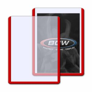 3x4 TOPLOAD CARD HOLDER - RED BORDER
