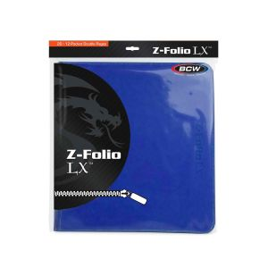 Z-FOLIO 12-POCKET LX ALBUM - BLUE