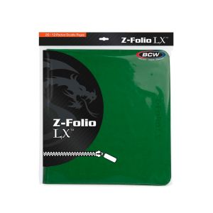 Z-FOLIO 12-POCKET LX ALBUM - GREEN