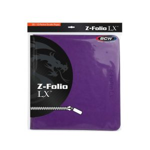 Z-FOLIO 12-POCKET LX ALBUM - PURPLE