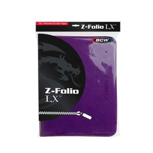 Z-FOLIO 9-POCKET LX ALBUM - PURPLE