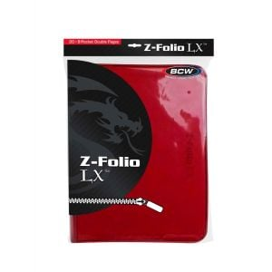 Z-FOLIO 9-POCKET LX ALBUM - RED